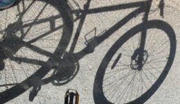 Shadow of bike